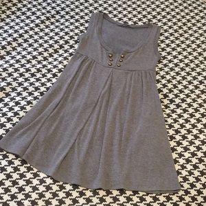 Monteau - Sz S, gray babydoll mini dress